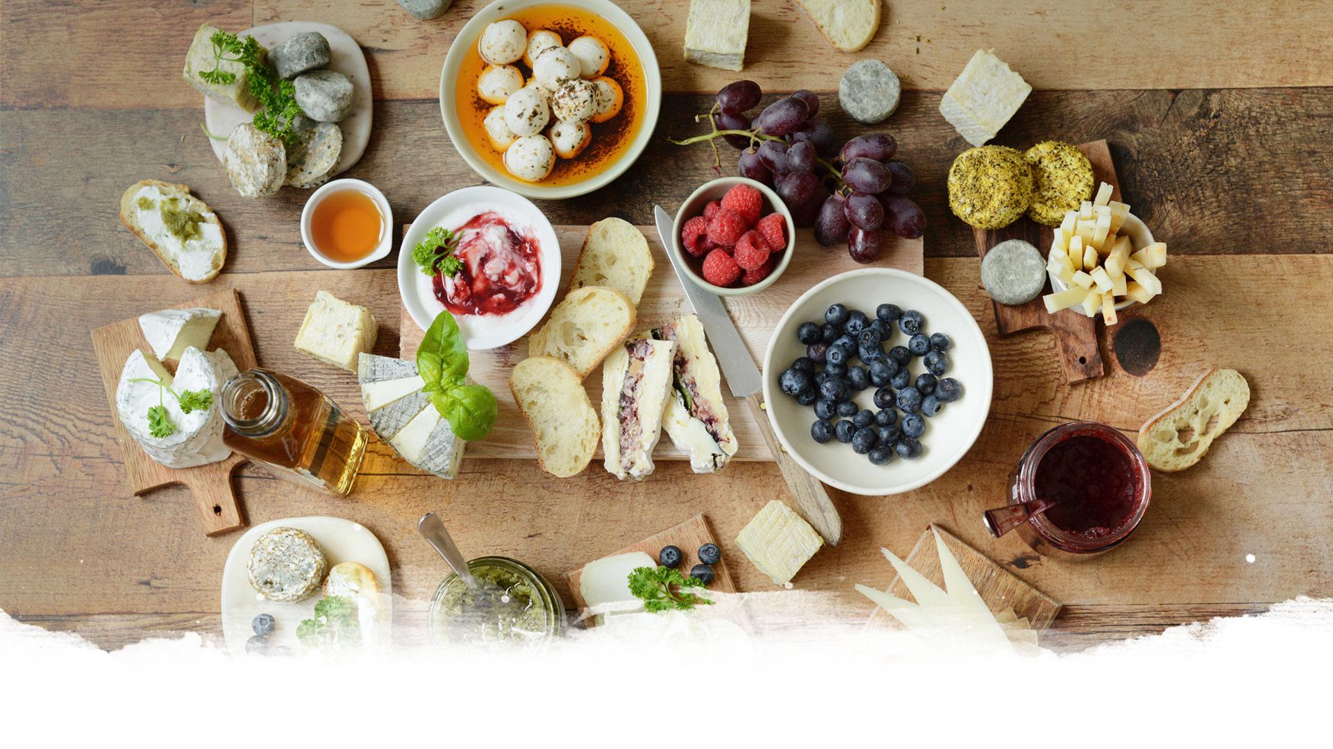 Plateaux de fromages et autres produits du terroir